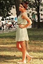aquamarine Glamorous dress - beige new look sandals