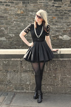 black Jones and Jones dress - black tesco boots