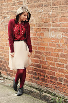 maroon Primark cardigan - black new look boots