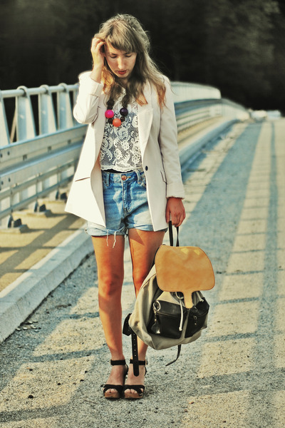 white Very top - cream Only blazer