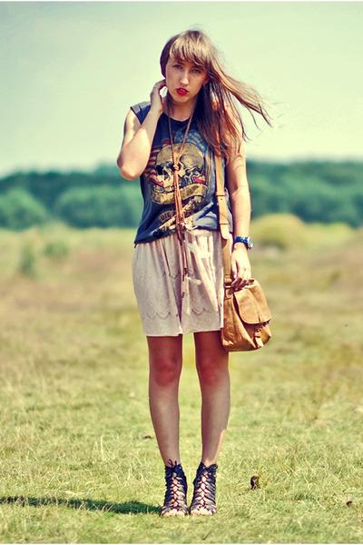 Topshop t-shirt - peach Only skirt