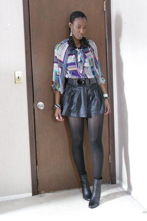 black Forever 21 shorts - black BX by Bronx boots