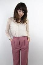 pink 70s vintage pants