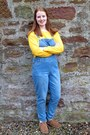 Light-brown-fat-face-boots-yellow-primark-sweatshirt-blue-tu-clothing-romper