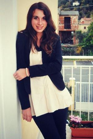 Bershka blazer - OASAP dress - Arc En Ciel bracelet
