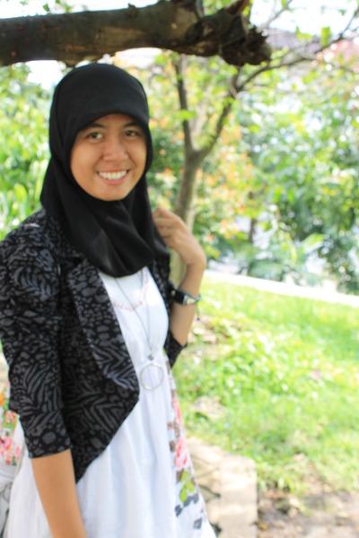 blazer - dress - scarf - watch