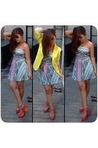 tnc dress - yellow Zara blazer