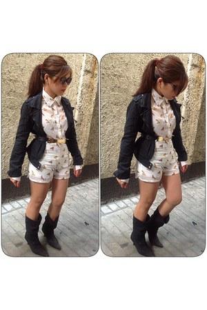 tnc shorts - Bershka jacket - tnc top