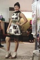 tnc dress - baroque heels random wedges - tnc accessories