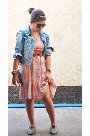 Primadonna shoes - doll Forever21 dress - cropped denim jacket