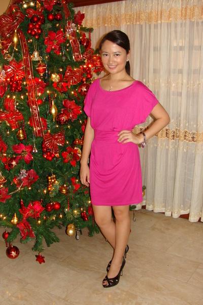 pink mng dresses black shoes silver klein