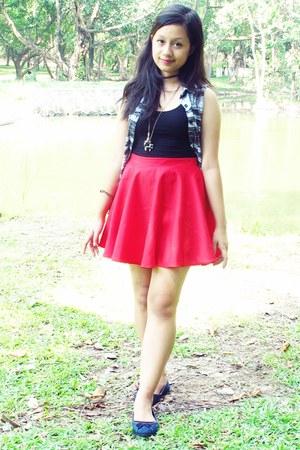 skater Sugar Thrifted skirt - Oxygen top - lycra Bazaar top
