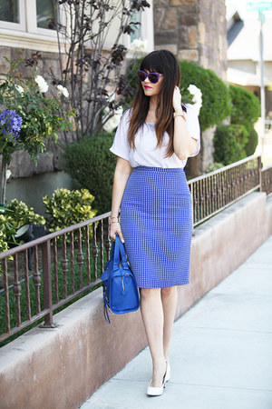skirt - bag - sunglasses - pumps