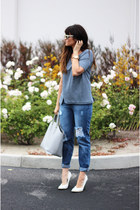bag - jeans - sunglasses - pumps - t-shirt