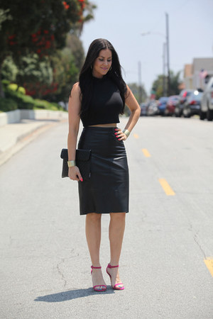 banana republic skirt - Missguided top - shoemint heels
