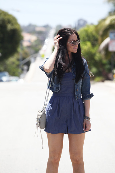 Target romper - Forever 21 jacket - Rebecca Minkoff bag