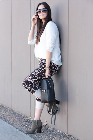 Sole Society boots - JCrew sweater - bag - Chaser Brand pants