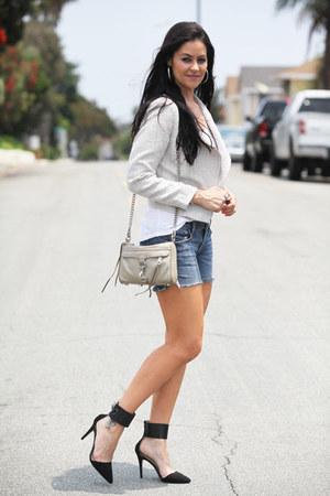 H&M blazer - Rebecca Minkoff bag - American Eagle shorts - Zara heels