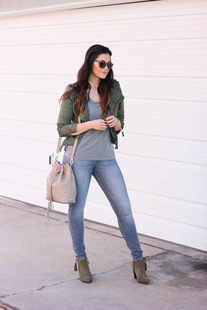 Sole Society boots - jeans - Fashion Frenzzie jacket - H&M t-shirt