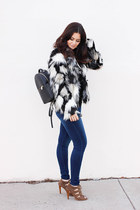 Isola shoes - H&M coat - Dear John jeans - bella luxx sweater - Henri Bendel bag