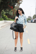 Christian Louboutin boots - 31 Phillip Lim bag - Zara shorts - Forever 21 top