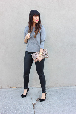 grey TOMS sweatshirt