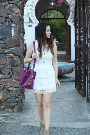 bag - boots - dress - necklace