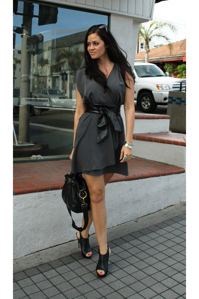 H&amp;M dress - Dolce Vita shoes - Francesco Biasia purse
