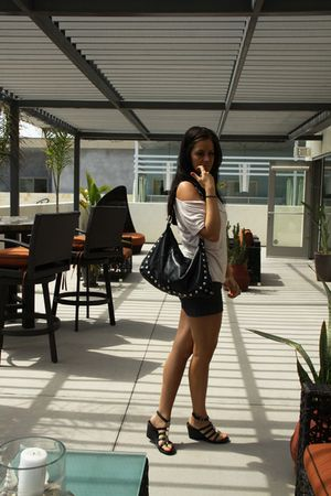 Hammitt bag - H&M shirt - H&M shorts - BCBG shoes