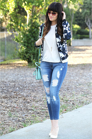 jacket - jeans - bag - sunglasses