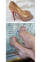 beige Christian Louboutin shoes