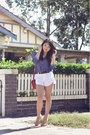 Polka-dot-zara-shirt-cambridge-satchel-company-bag-alice-olivia-shorts