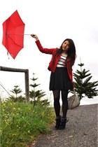 ruby red umbrella Zara accessories - ruby red bardot jacket