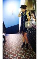Agent 99 t-shirt - surface to air skirt - Miu Miu - boots - bracelet