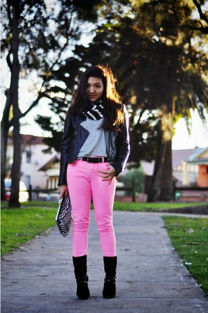 hot pink asos jeans