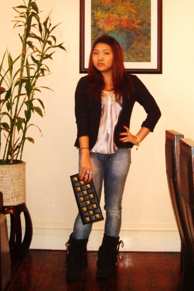 Alannah Hill - cotton on blazer - Lee jeans - Kasui boots - Forcast