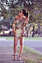 Zara shirt - Topshop shorts - karissa tony bianco heels