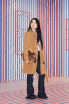 camel suede trench Forever 21 coat