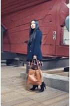 maroon Zara dress - bronze Mezzi bag