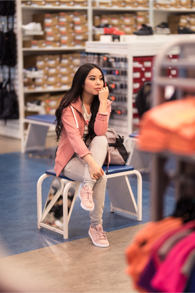 bubble gum Reebok shoes - pink Reebok hoodie
