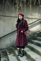 ruby red Furla bag