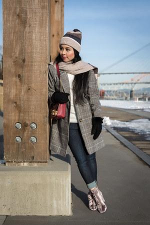 heather gray shein coat