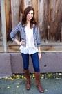 Pour-la-victoire-boots-forever-21-jeans-h-m-blazer-white-express-blouse