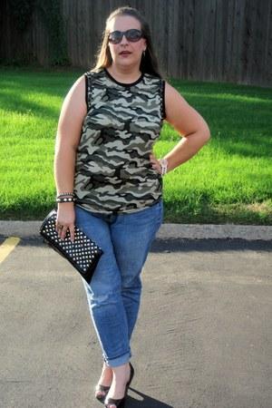 Old Navy jeans - Dolce Vita purse - Steve Madden heels - Forever 21 top