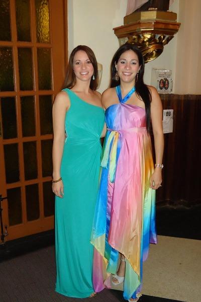 07da6a5f5ba4e turquoise blue BCBG dress - pink silk DIY dress - silver Hale Bob heels
