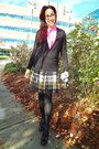 Bubble-gum-silk-jcrew-shirt-black-tights-maroon-chie-mihara-heels