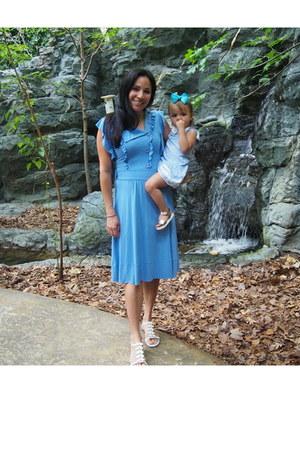 sky blue Anthropologie dress - sky blue HM baby girl dress