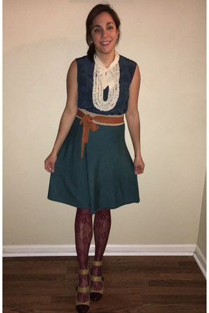 teal Anthropologie skirt
