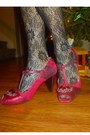 Black-lace-stockings-ivory-silk-and-lace-vintage-dress-ruby-red-heels