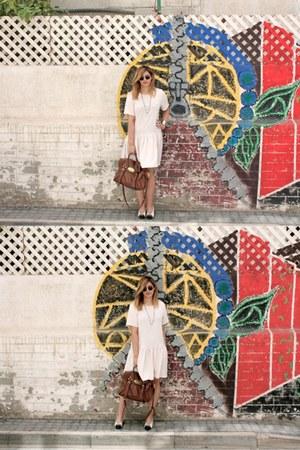 Topshop dress - Mulberry Alexa bag - Ray Ban sunglasses
